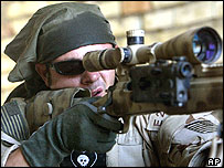 US sniper in Najaf