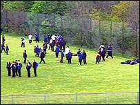 school playing field