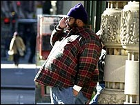 Obese man in New York, BBC