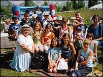 Children from Chernobyl with Bailiwick residents on a previous visit