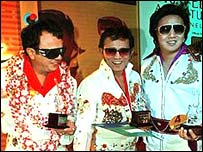 Elvis impersonators, Kuala Lumpur