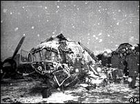 Scene of the Munich air crash