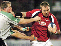 Scott Quinnell created two of the Scarlets' tries against Connacht