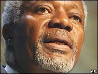 Kofi Annan, secretario general de la ONU.