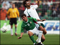 Roy Keane was in typically combative form for the Irish