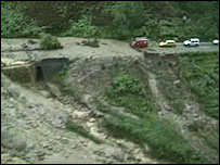Landslide in central Scotland