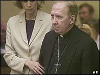Bishop Thomas O'Brien at the court in Phoenix, Arizona