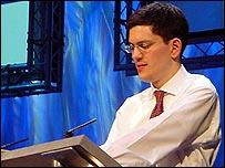 Schools minister David Miliband