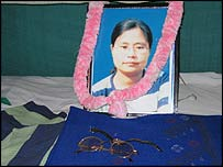 Thangjam Manorama, whose rape and murder sparked the protests against federal anti-terror laws in Manipur