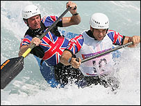 British canoeists Nick Smith and Stuart Bowman