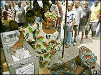 Voters in Lagos cast their ballot in local government elections