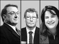 Ray Boulger, Francis Klonowski and Anna Bowes