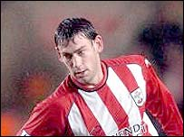 Southampton midfielder Rory Delap