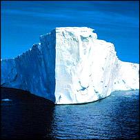 Antarctic ice-berg, BBC