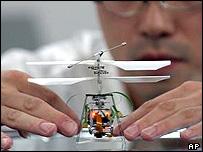 Seiko Epson's FR-II micro flying robot
