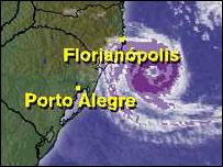 Imagen sateltal del huracán.