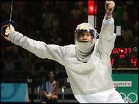 Damien Touya celebrates victory