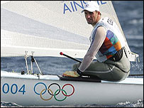 Ben Ainslie competes in Athens