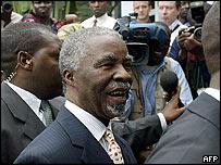 South African President Thabo Mbeki