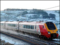 Virgin Voyager train on the CrossCountry route (Photo: Virgin Trains / Milepost 92½)