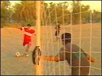 Jugadores jóvenes en Bagdad