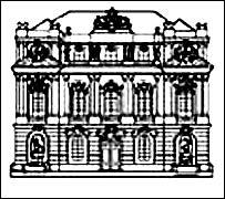 Detalle del logo del Instituto de la Academia Austriaca de Ciencias