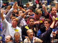 Oil traders on the New York market.