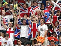 The British flags were out in force