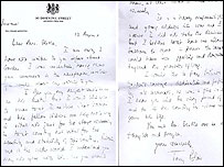Letter from Tony Blair