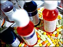 Image of pills and bottles (generic)