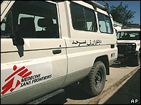 Medecins sans Frontieres vehicle