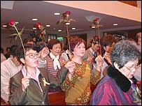Church prayers in Taiwan