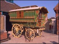 The museum's gypsy caravan