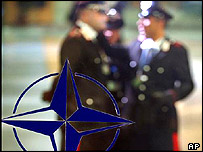 Military officials meet at the Nato headquarters
