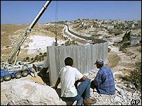 West Bank barrier at Abu Did near Jerusalem
