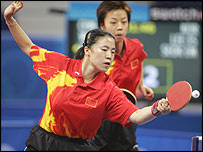 China's Wang Nan and Zhang Yining