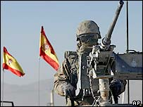 Spanish troops in Kabul