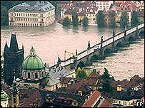 Floods in Prague August 2002