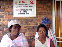 Women at a government clinic