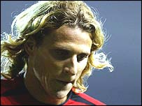 Diego Forlan in action for United
