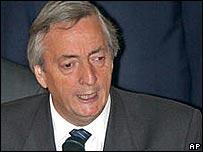 Néstir Kirchner, presidente de Argentina