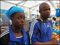 Hawanatu Bangura (left) and Lamin Tucker