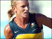 Louise Dobson of Australia in action