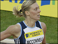 British sprinter Lee McConnell