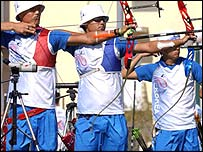 South Korea's archery team