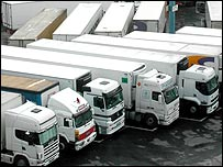 Lorries in Tangier
