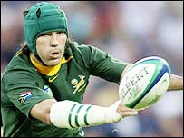 Victor Matfield scored the opening try for South Africa