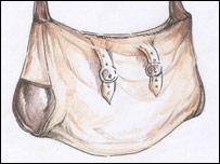 An artist's impression of Amelie's bag