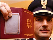 Italian biometric passport