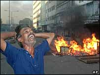 Awami League supporter in grief after blasts